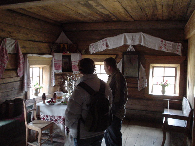 Inside one of the buildings at the museum