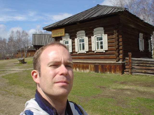 Me, at the Museum of Wooden Architecture near Irkutsk (I gotta try to keep up with Amy!)
