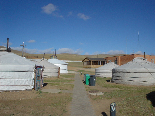 The ger camp at Hustai National Park in Mongolia
