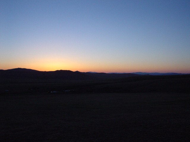 Sunset at Hustai National Park