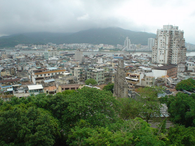 A view of Macau from the fort